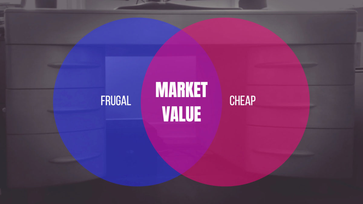 Frugality and Cheapness overlap when Market Value of a Purchase Exceeds the Original Purchase Price
