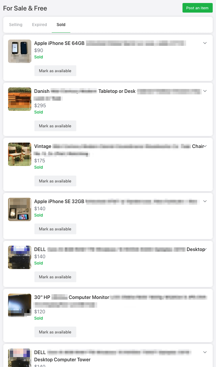 Nextdoor feels like a nice modern mix between Craigslist and Facebook Marketplace while focusing on your local neighborhood to find buyers.