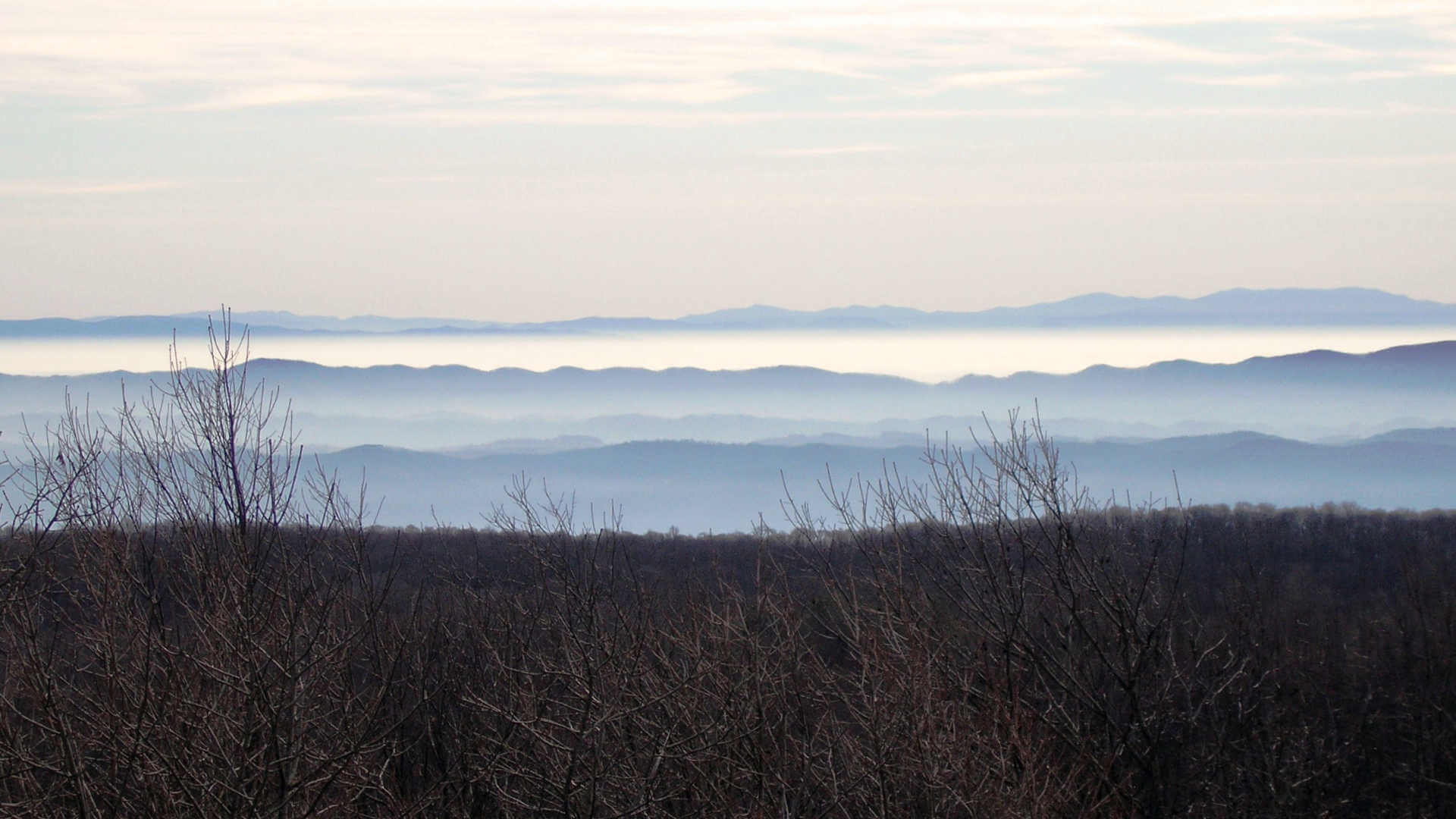 Looking out across the hills of Appalachia.