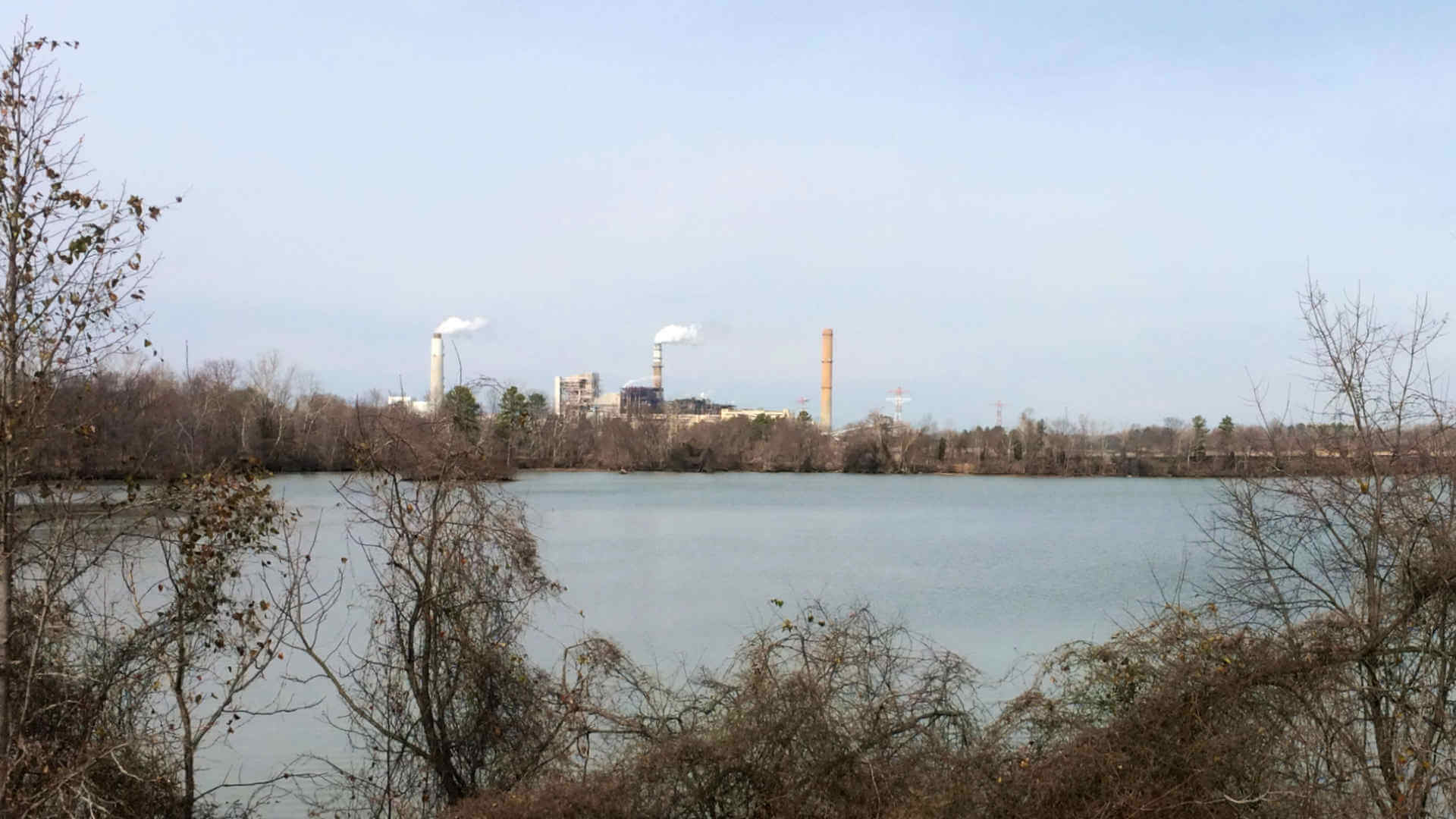 A nearby coal power plant supplying much of our metro region though it's in a rural area surrounded by parks.