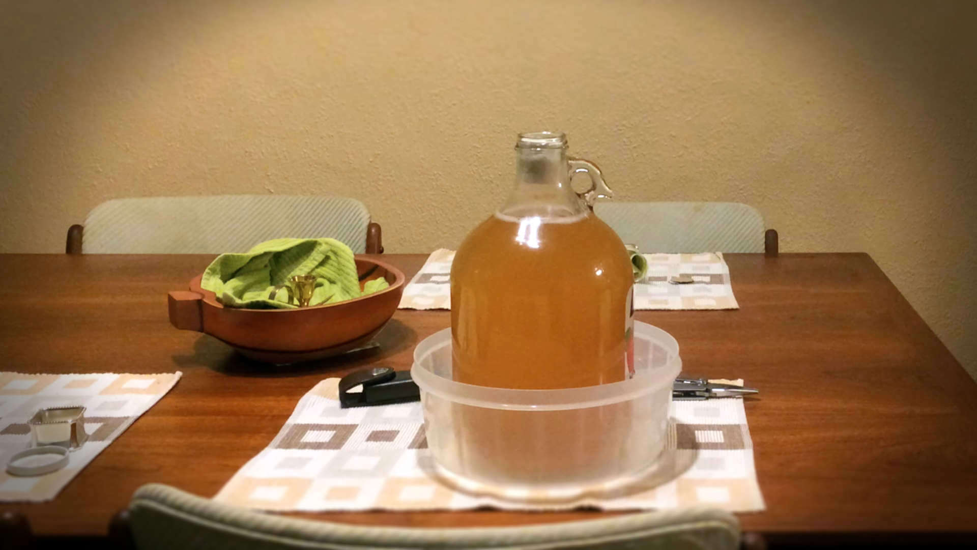 "One of our DIY hard cider brewing experiments, DIY activities helped us reach the point of defining: ""how much money is enough?"""