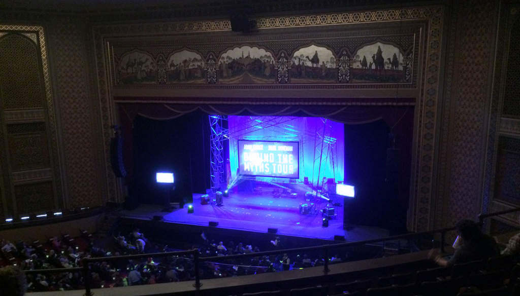 Mythbusters: Behind the Myths Tour on the nearby university campus