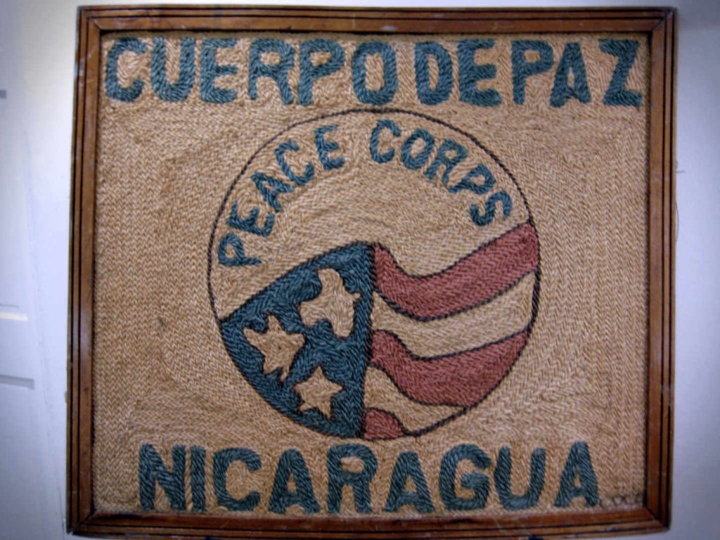 The local emblem of Peace Corps (Cuerpo de Paz in Spanish), in Nicaragua at the Managua HQ.