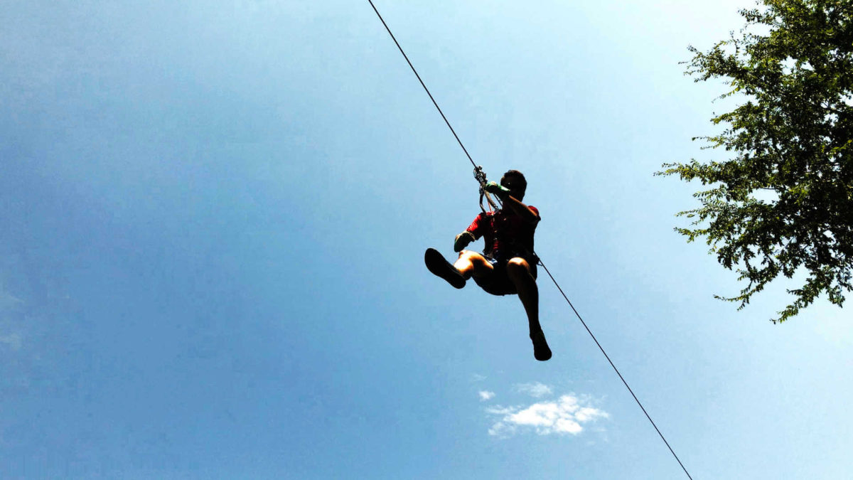 A staycation idea to steal: local zip line and obstacle courses!