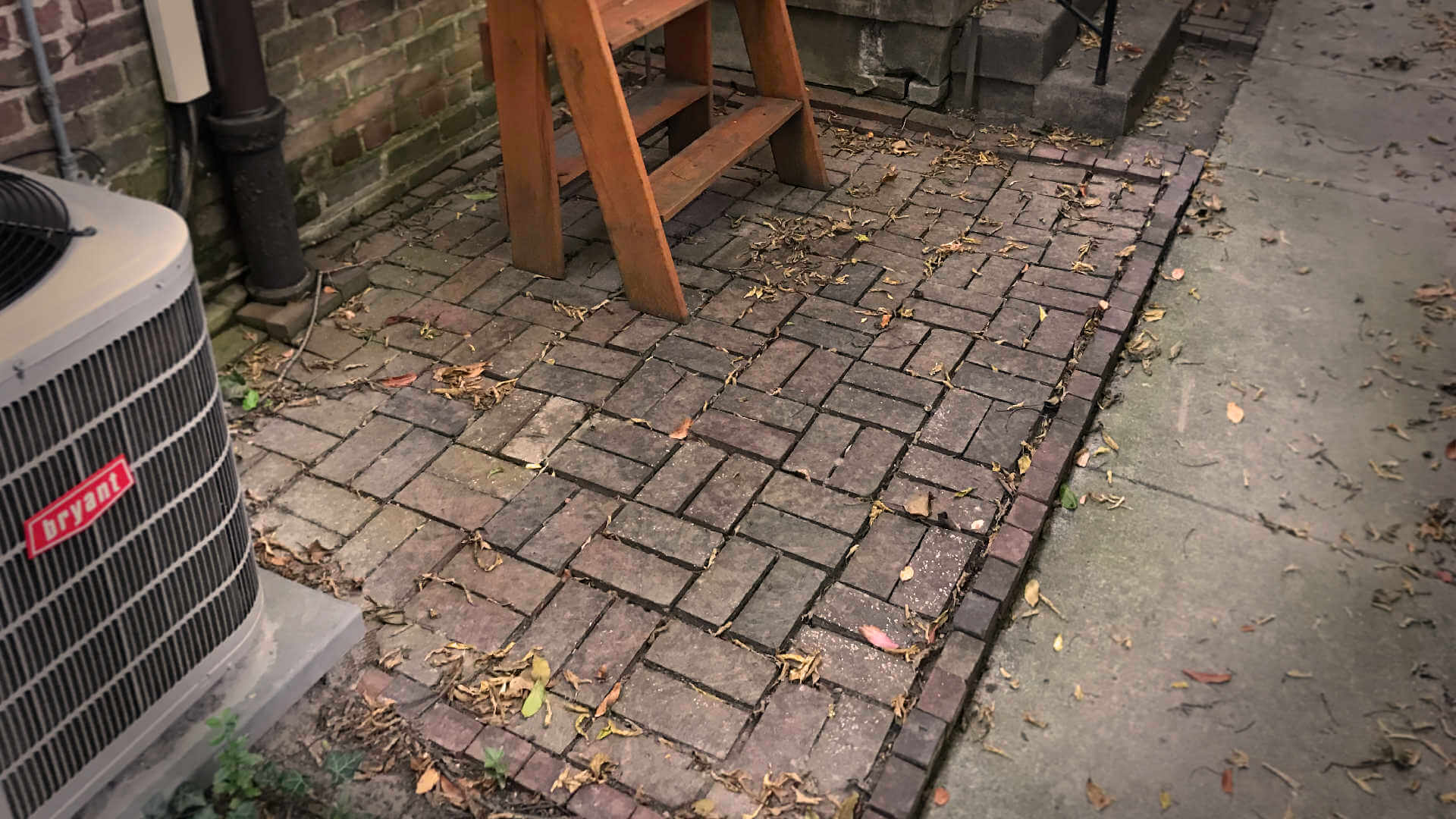 Avoid fear of making mistakes in your DIY projects by following my 3 simple steps. This our patio before I started on regrading it.