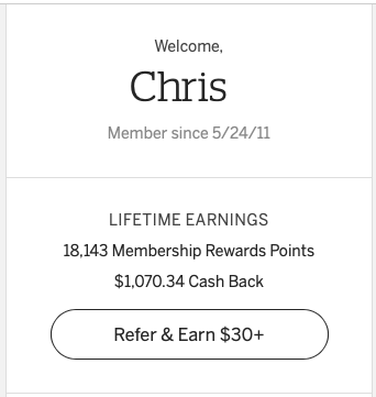 Lifetime earnings of Rakuten cashback is over a thousand dollars!
