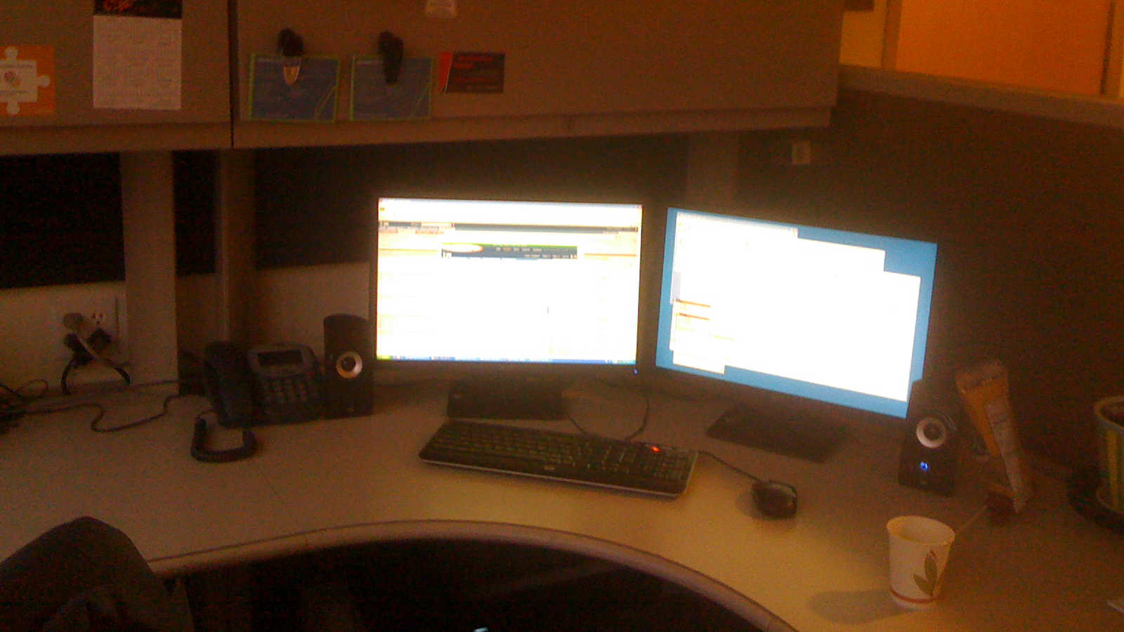 My new workspace in 2009 just before Christmas.