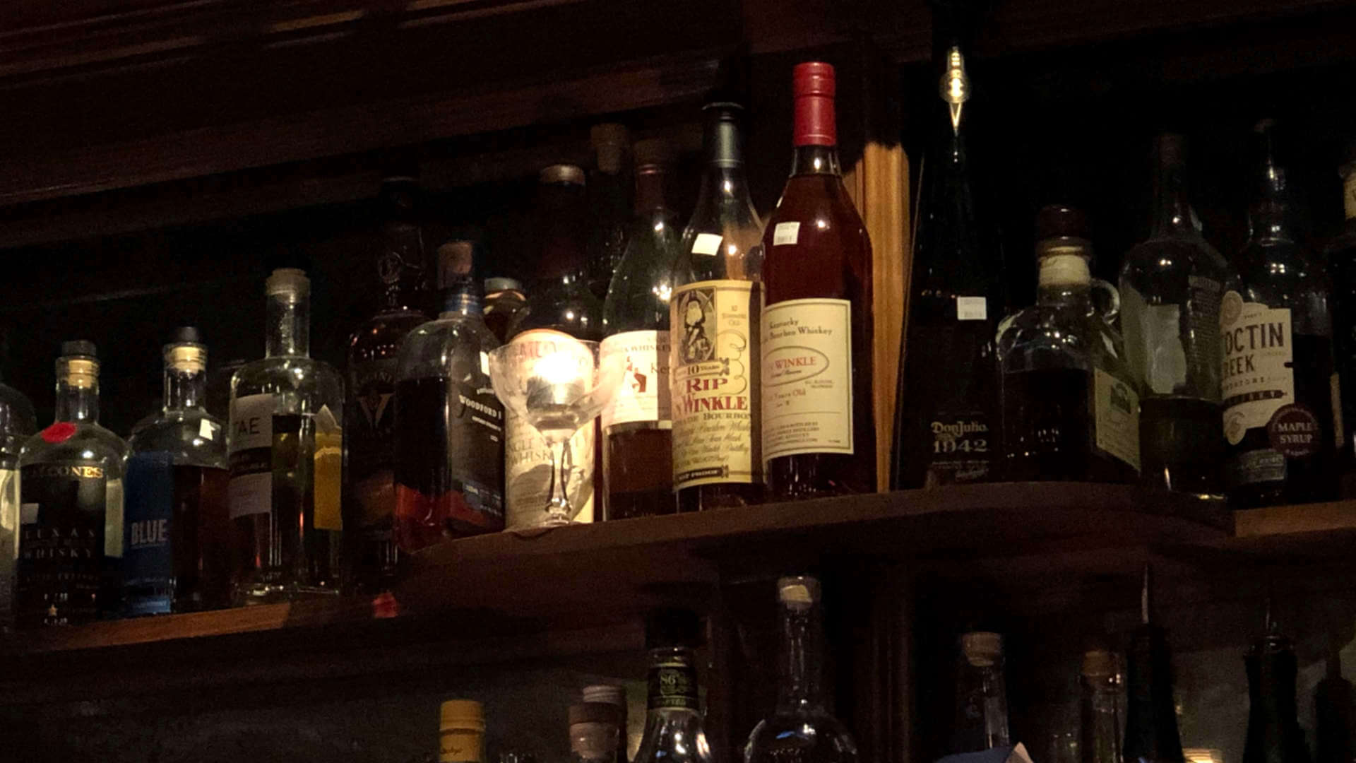 That bottle of Old Rip Van Winkle raises the average value of liquor as this bar we visited dramatically. But that doesn't mean we spent more on drinks than normal!