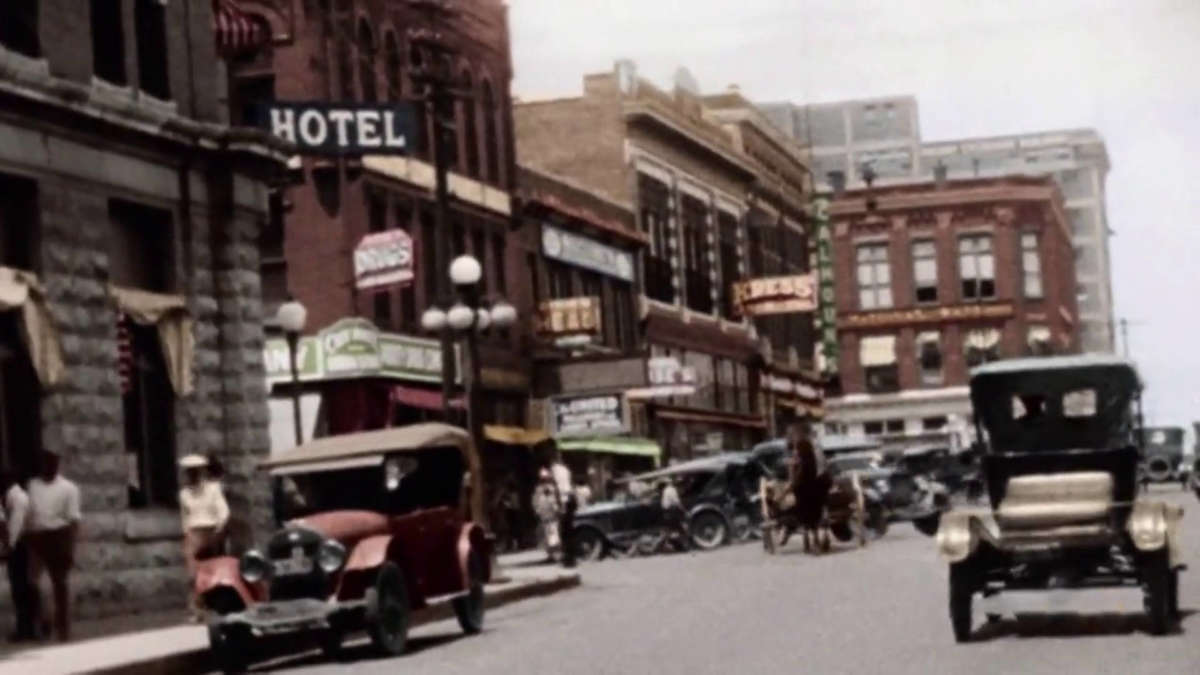 The businesses of Black Wall Street in its heyday [Image source: America in Color: The 1920s, Smithsonian].