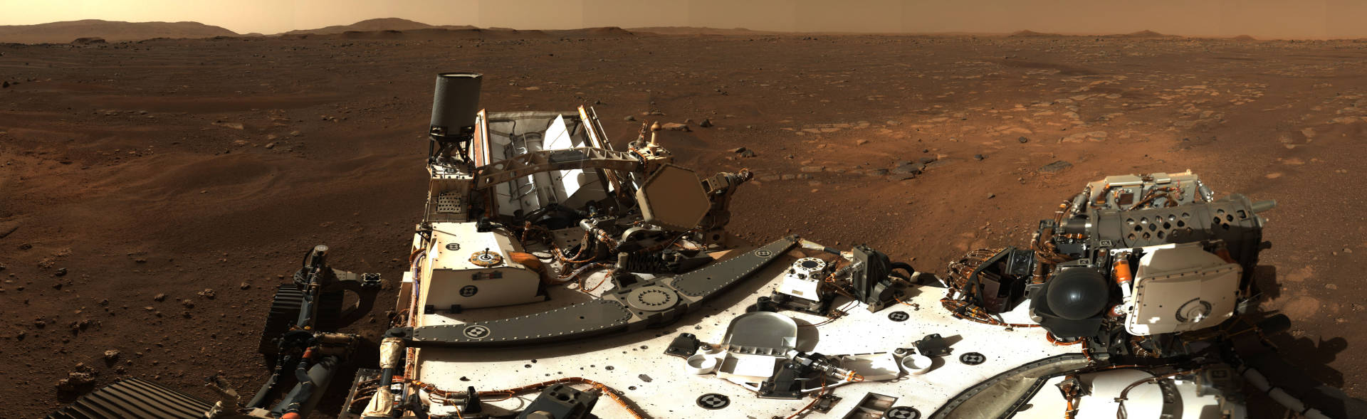 The first panoramic of the Perseverance Rover's new home [Source: NASA]