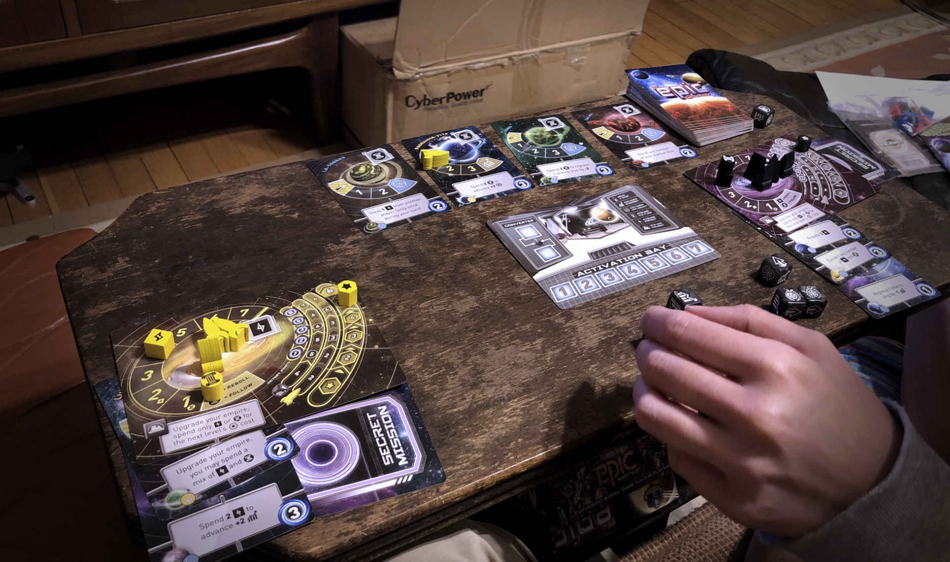 We've still found ways to have fun inside during the winter (like this great Tiny Epic Galaxies card game friends gave us), but we're ready for spring!