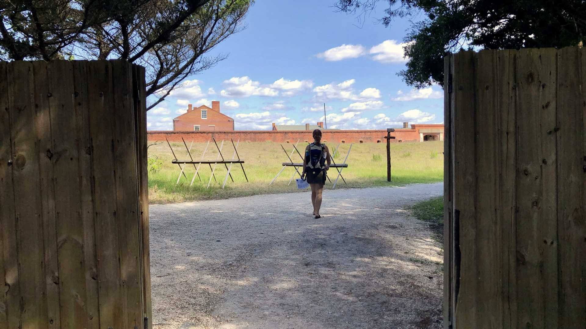 """Entering the grounds of Fort Clinch, the linchpin of Amelia Island's """"Eight Flags"""" history—it's changed hands with different occupying forces and ownership several times over the years."""