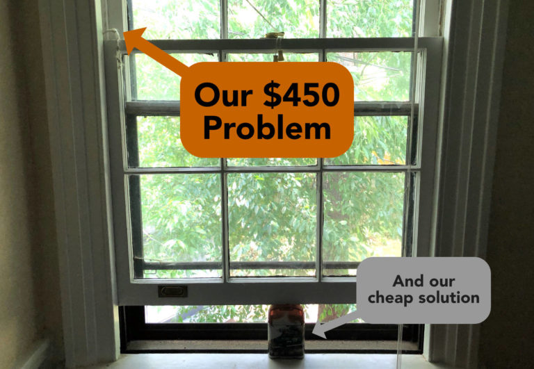 This is how a cheap solution to an expensive problem irritated us until we finally got frugal and repaired a $450 problem ourselves for $16!