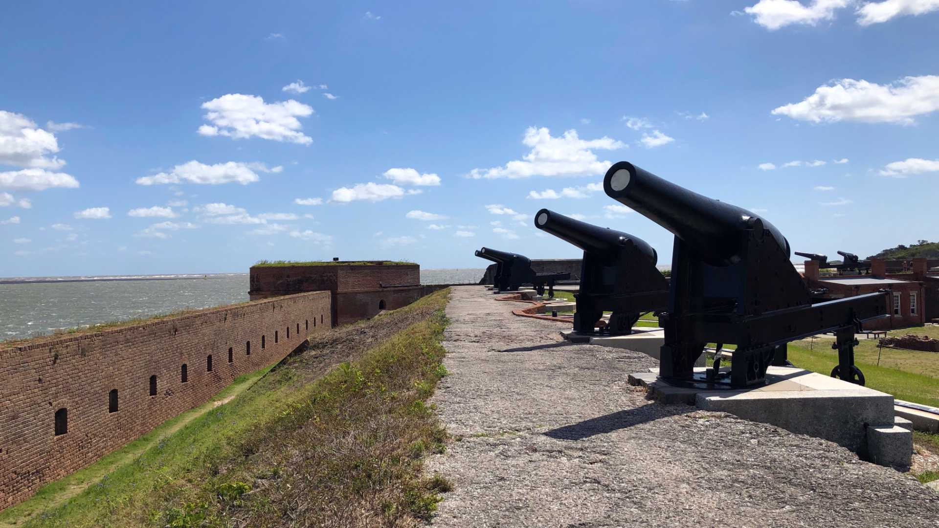 The view from Fort Clinch's ramparts on Amelia Island, FL.