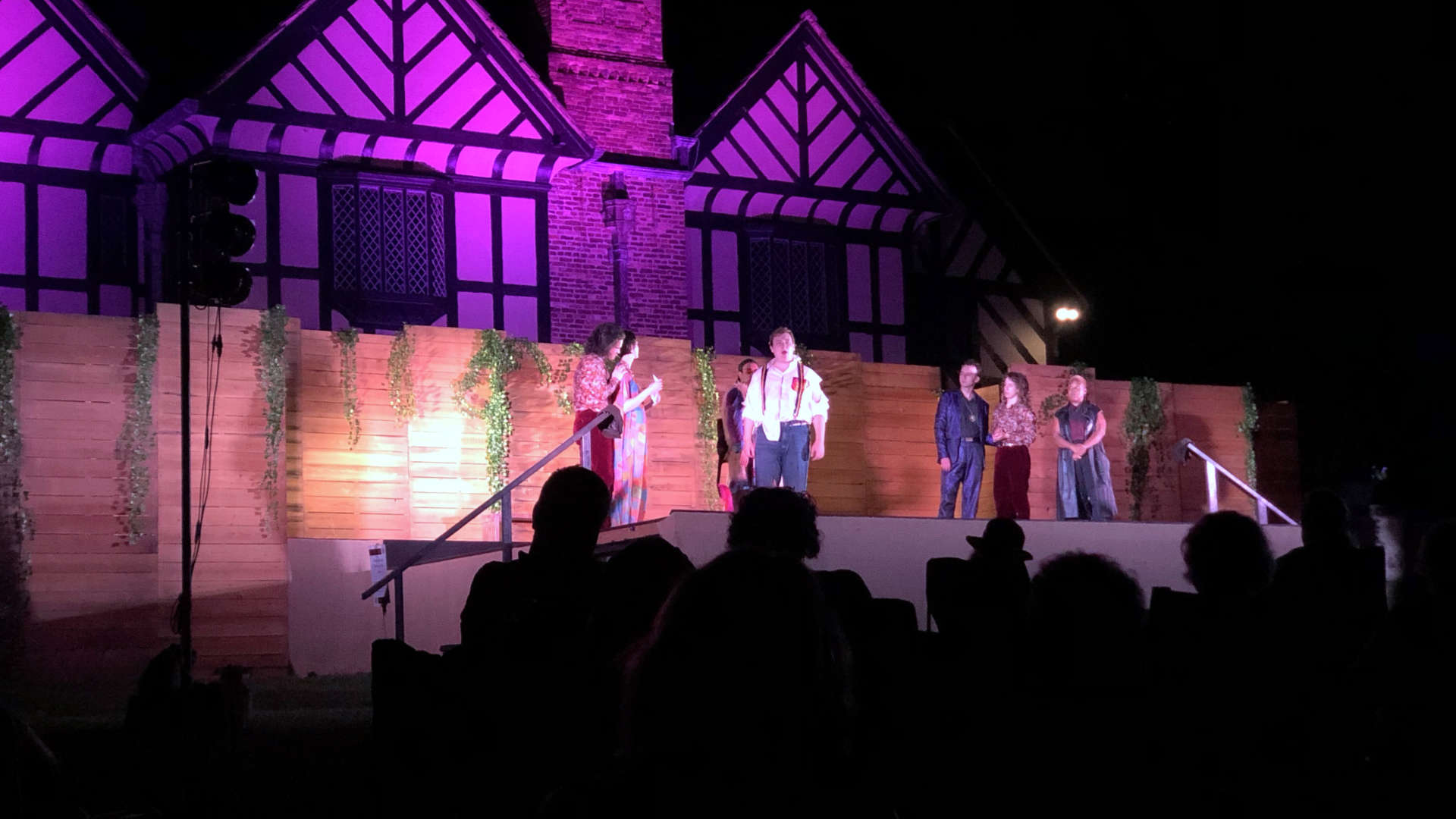What a way to enjoy Shakespeare: outside under the stars and adjacent to a historic English Tudor manor!