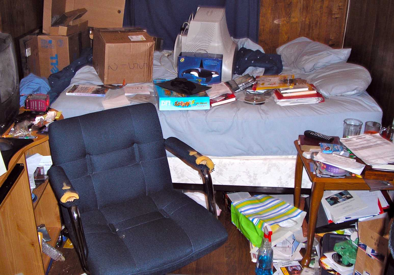 This is what move-out day looked like for me in 2006. Loads of clues in this photo about the future of my life, especially that Peace Corps book!