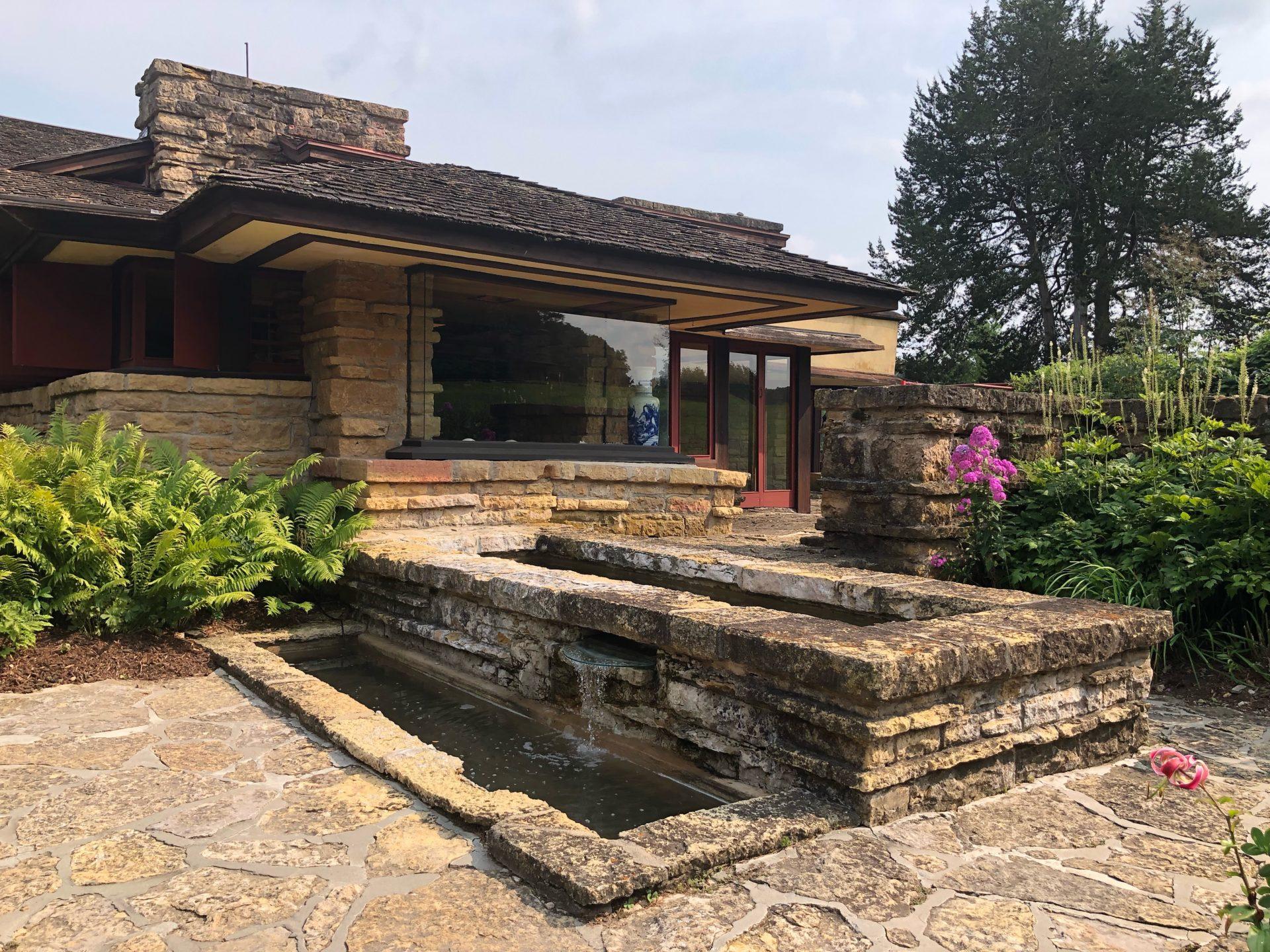 Frank Lloyd Wright's Taliesin home in Wisconsin.
