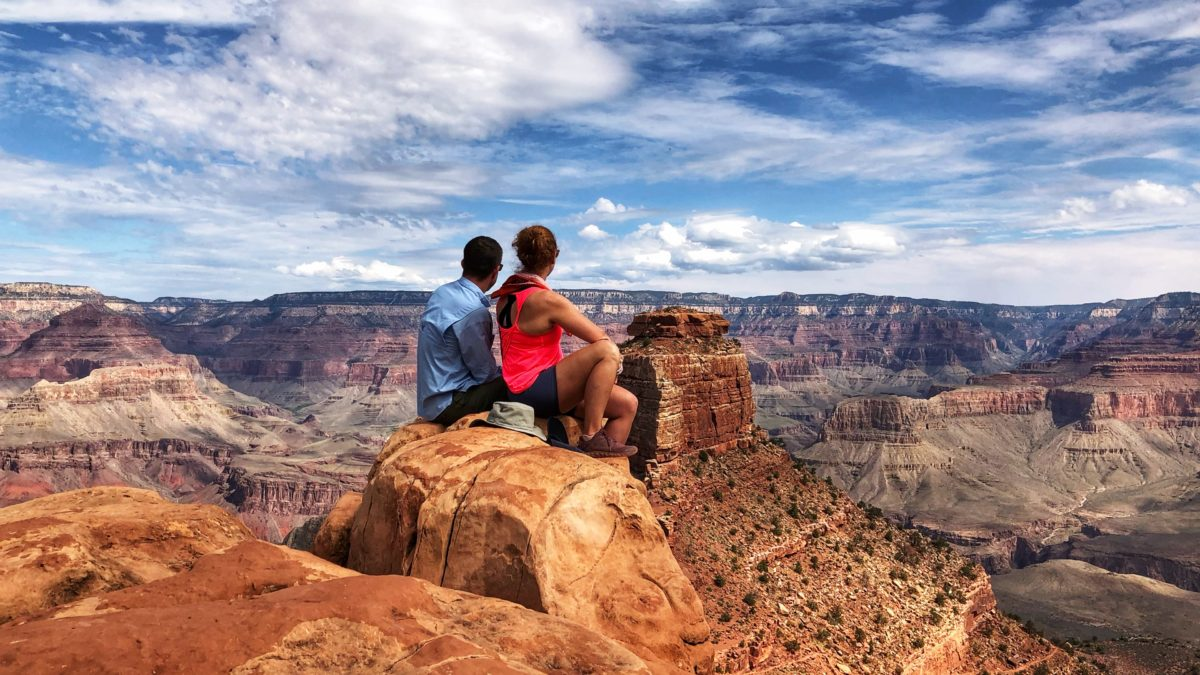 Overlooking the Grand Canyon from Cedar Ridge near the South Rim. This is how we closed out August!