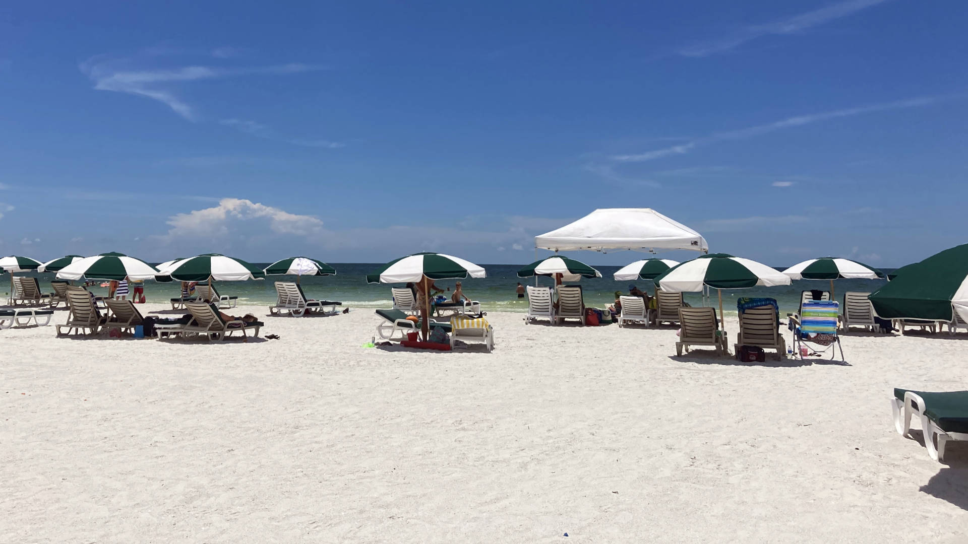 The view of the horizon from Marco Island Beach.