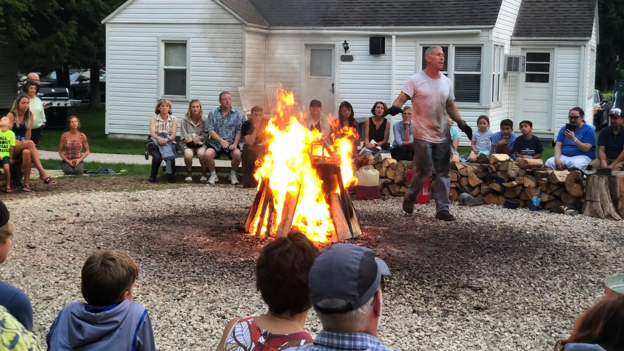 """Perhaps our best """"restaurant"""" visit was to the local fish boil in Door County, WI!"""