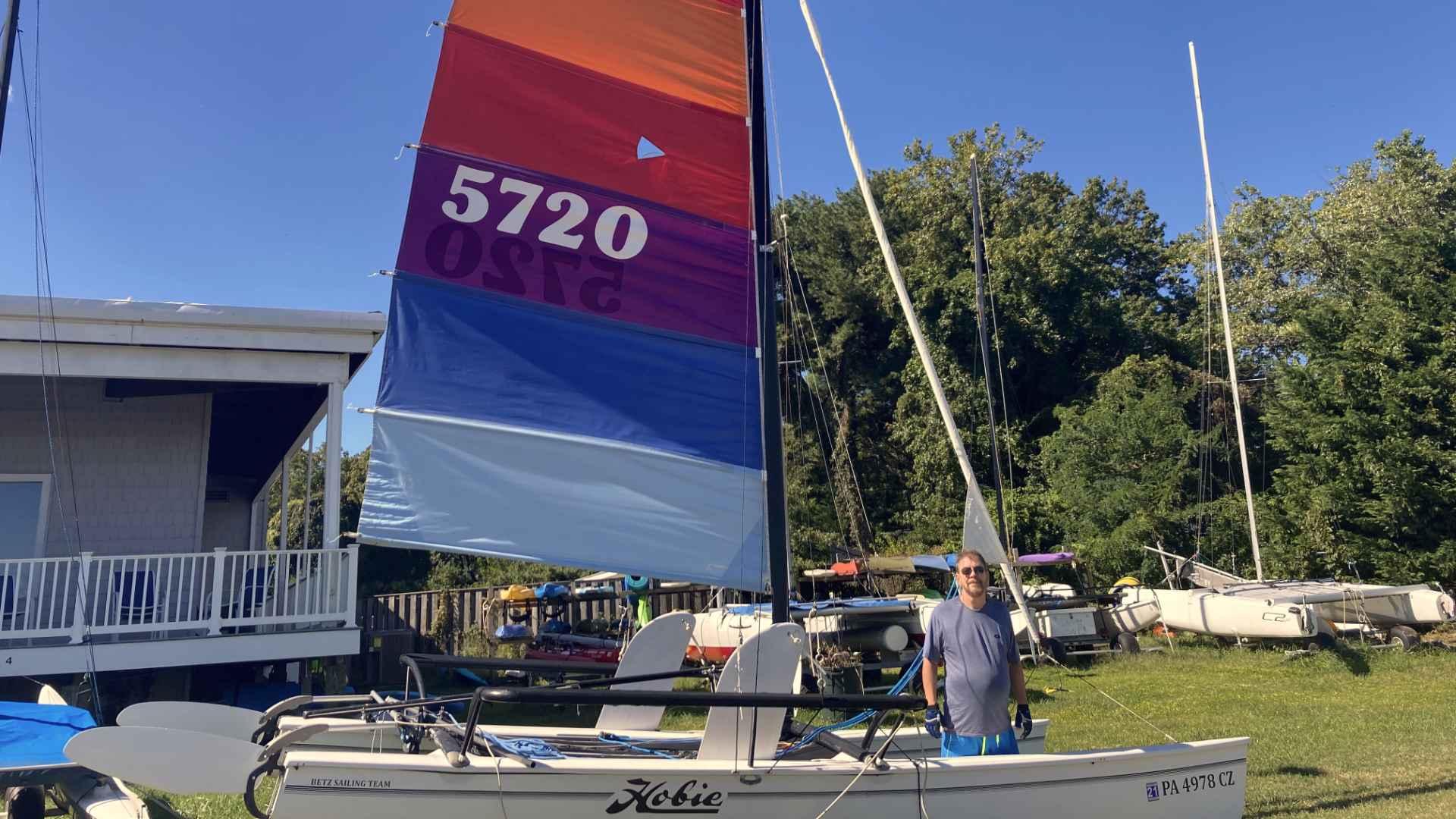 Last sailing day of the season on the Chesapeake Bay