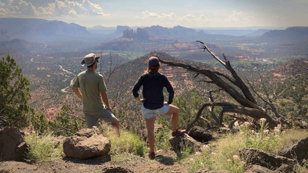 Overlooking Sedona from the Scheurman Trail. We packed a lot of hikes in the month.